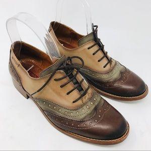 Pikolinos Royal Cap Toe Oxfords Brown Shoes 37